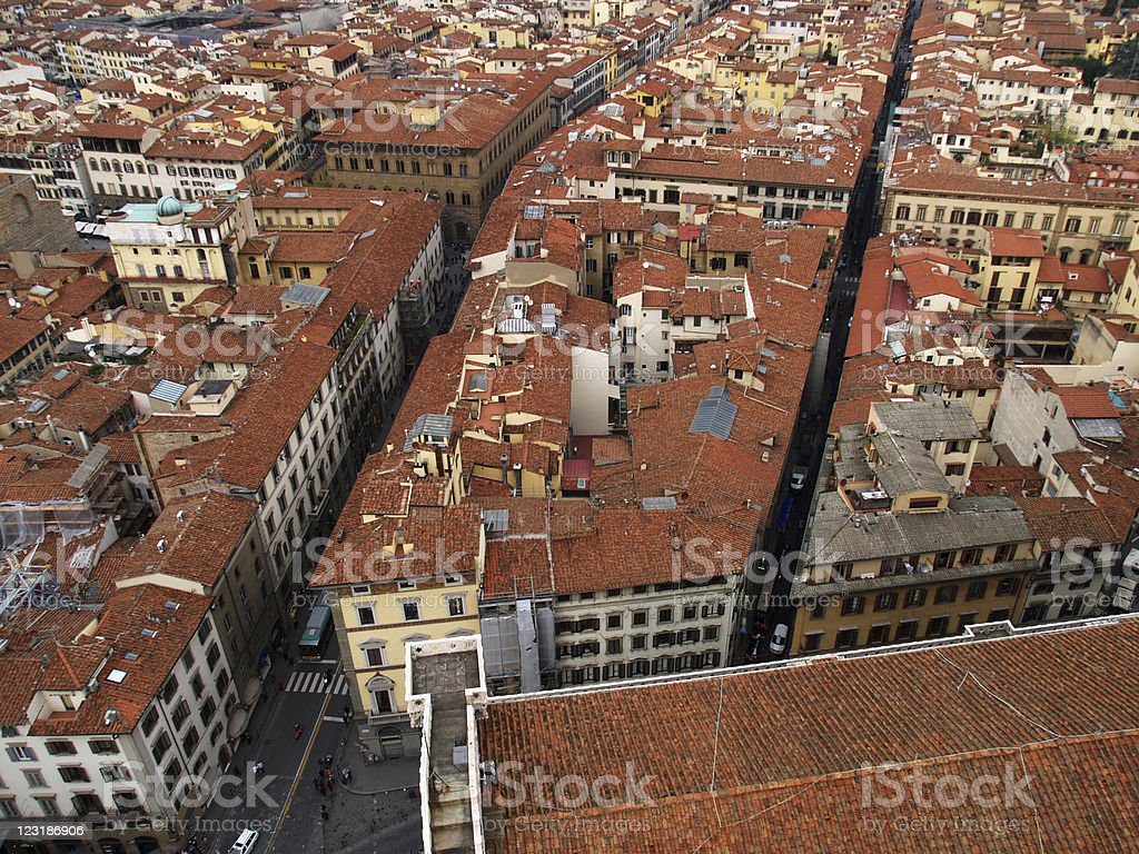 Roofs of Florence royalty-free stock photo