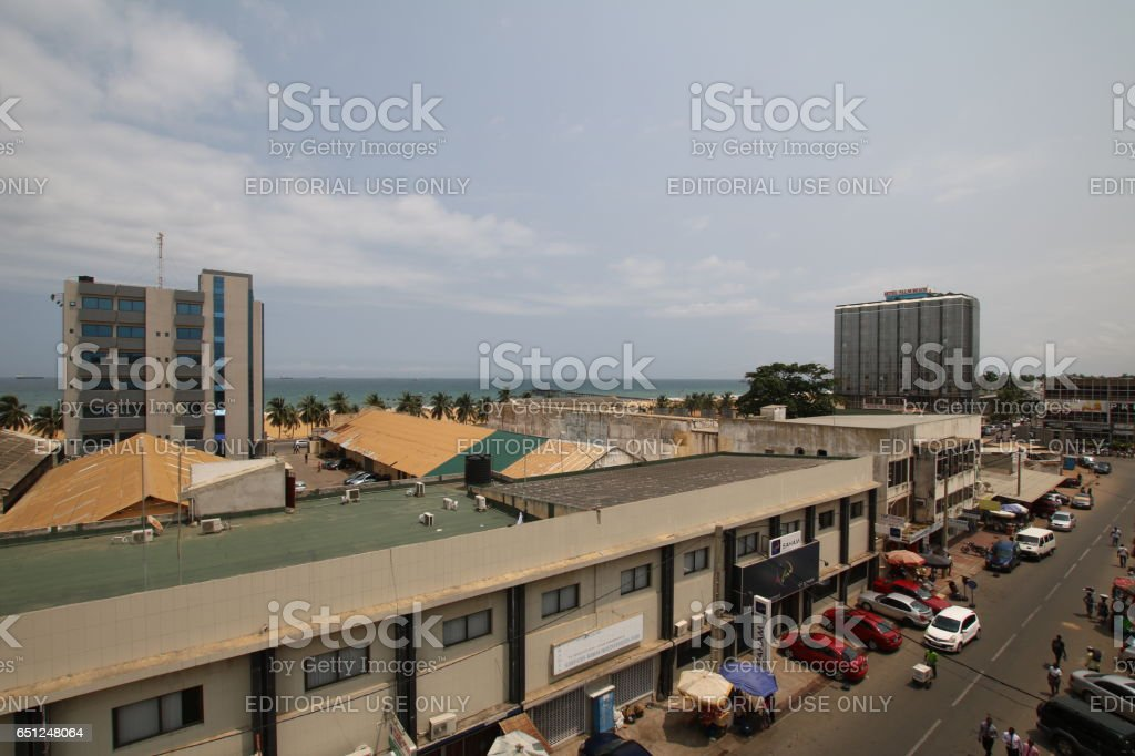 Roofs of Lomé, Togo, West Africa stock photo