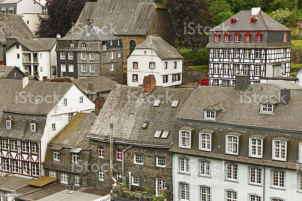 Roofs of Monschau stock photo