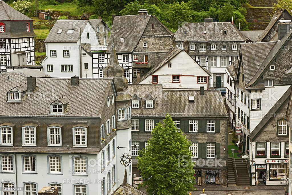 Roofs of Monschau royalty-free stock photo