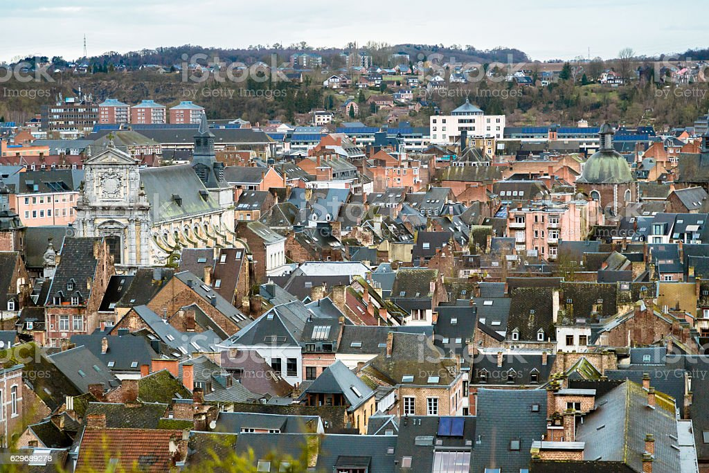 Roofs of Namur, Belgium stock photo