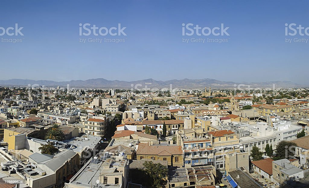 Roofs of Nicosia stock photo