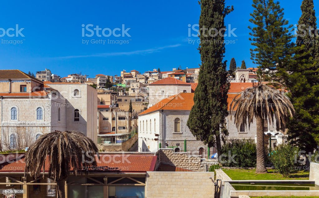 Roofs of Old City in Nazareth stock photo