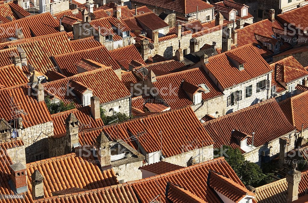 Roofs of old city royalty-free stock photo
