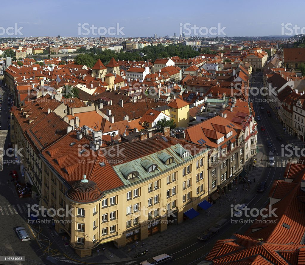 Roofs of Prague royalty-free stock photo