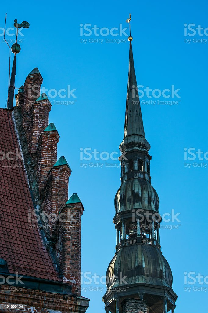 Roofs of Protestant Churches stock photo