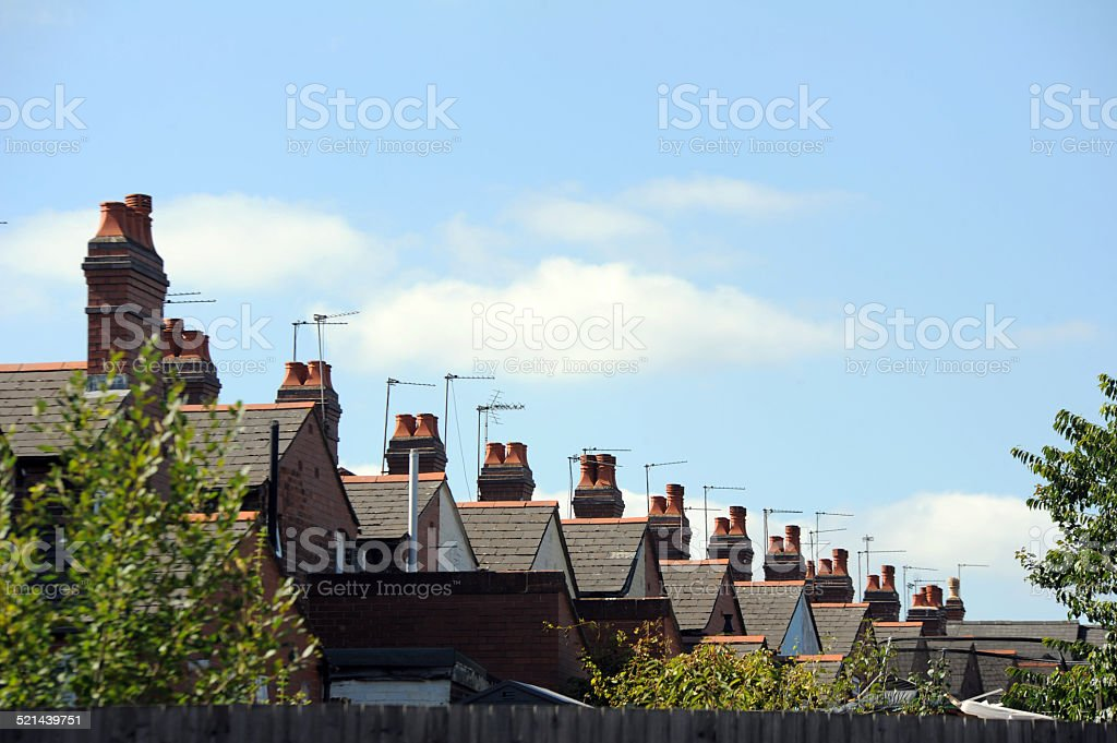 Roofs of Terraced Housing stock photo
