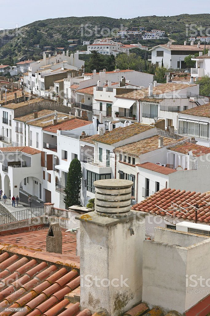 roofs of the beautiful in cadaques (Costa Brava, cataluna, Spain). royalty-free stock photo
