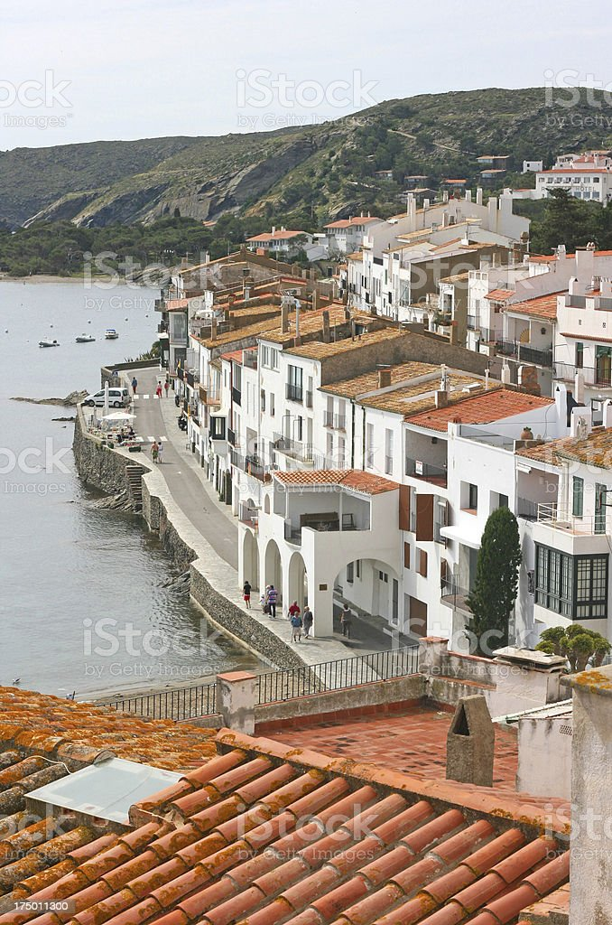 roofs of the beautiful village in cadaques ( cataluna, Spain). royalty-free stock photo