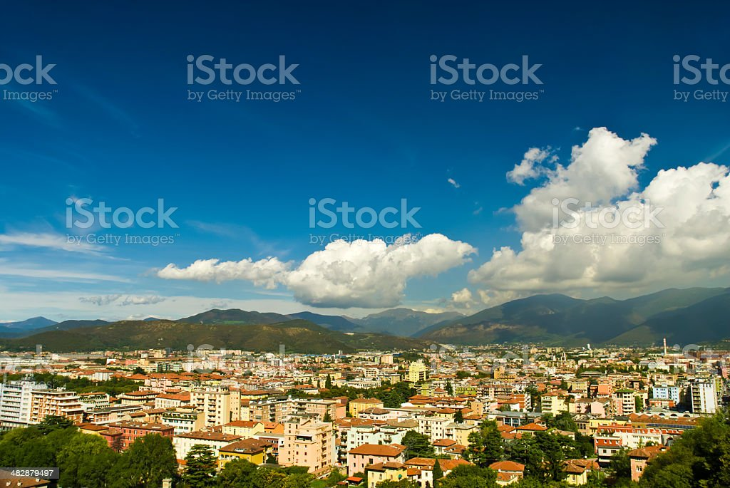 Roofs of the buildings stock photo