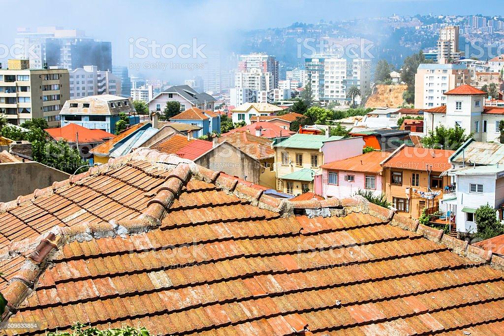 Roofs of Viña del Mar stock photo