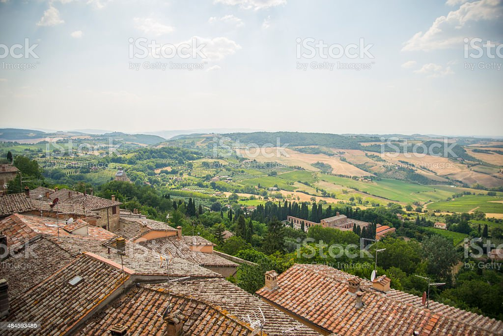 Roofs over Tuscany stock photo