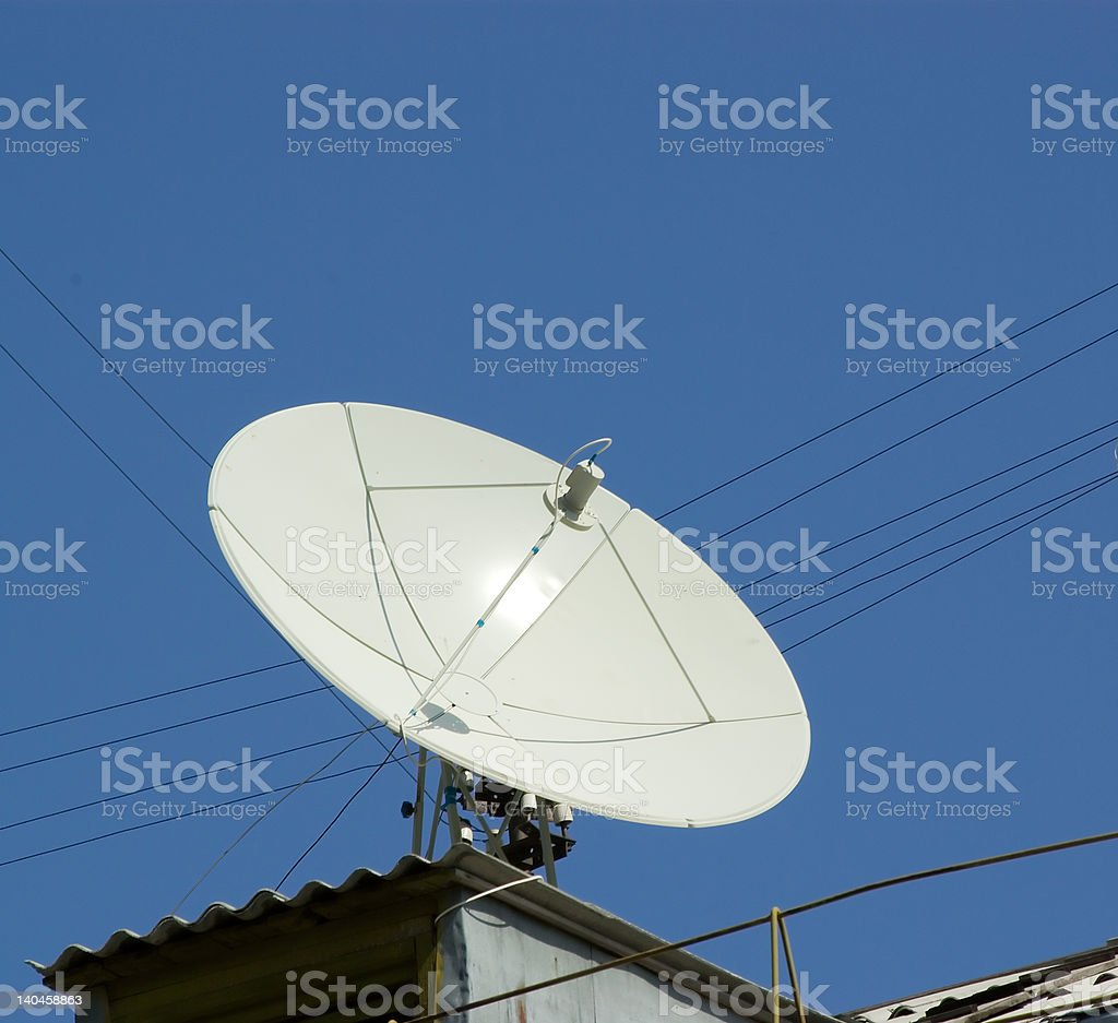 rooftop antenna royalty-free stock photo