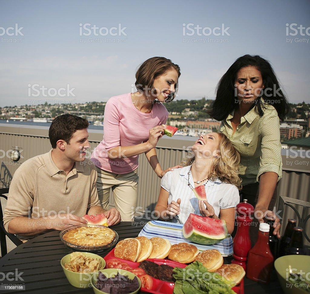 Rooftop Barbeque royalty-free stock photo