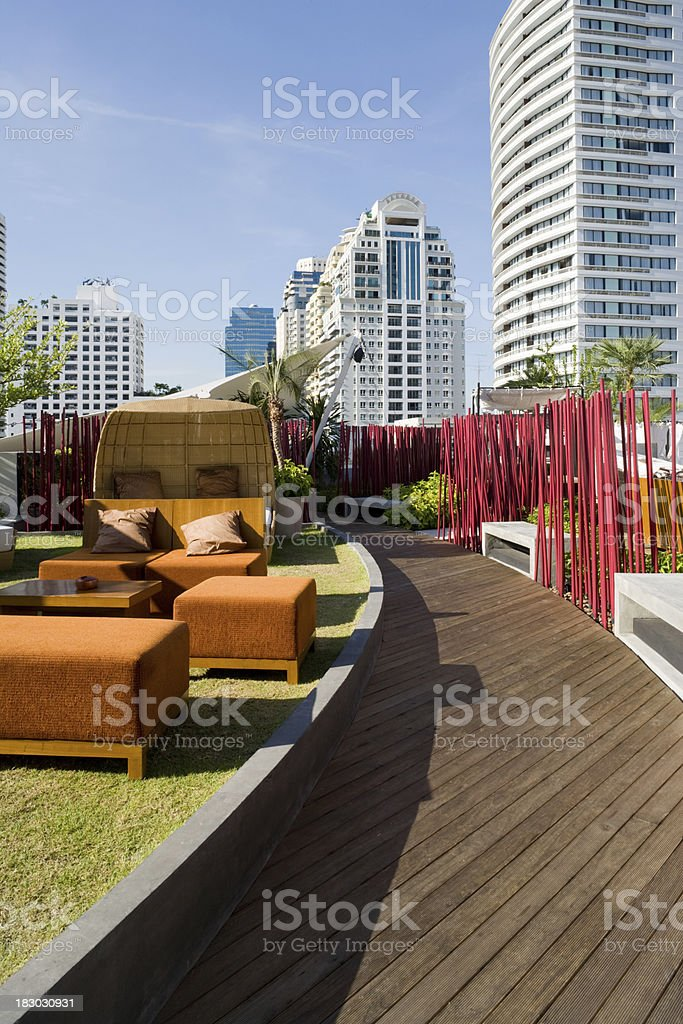Rooftop Cafe royalty-free stock photo