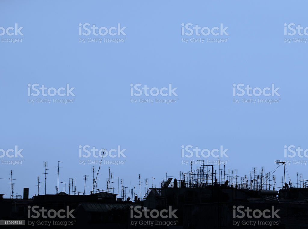 Rooftop Congestion royalty-free stock photo