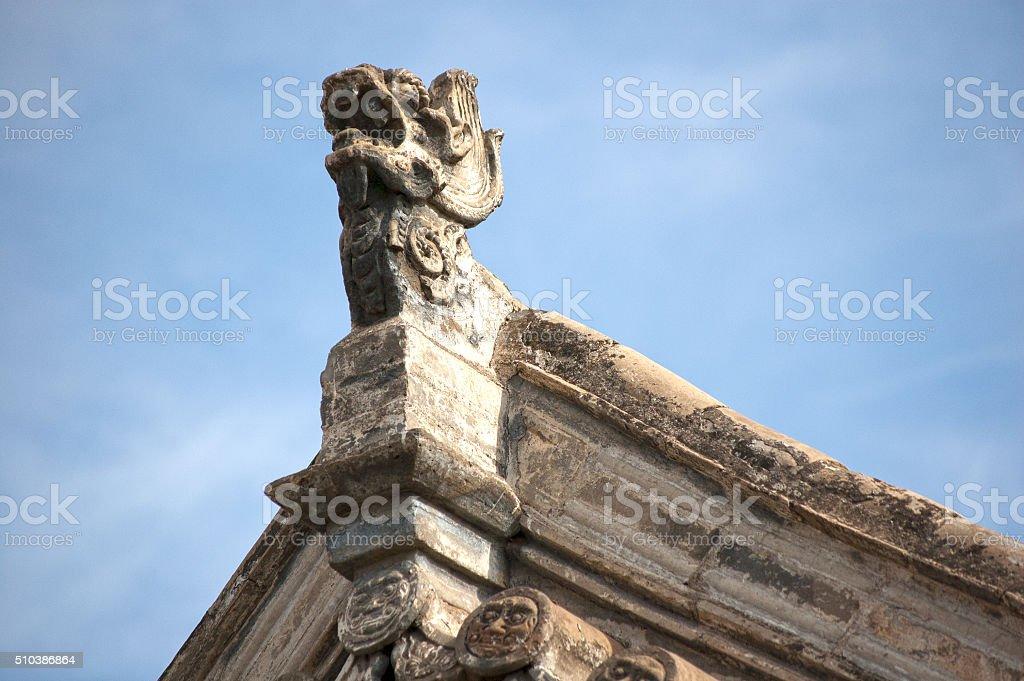 Rooftop Figure stock photo