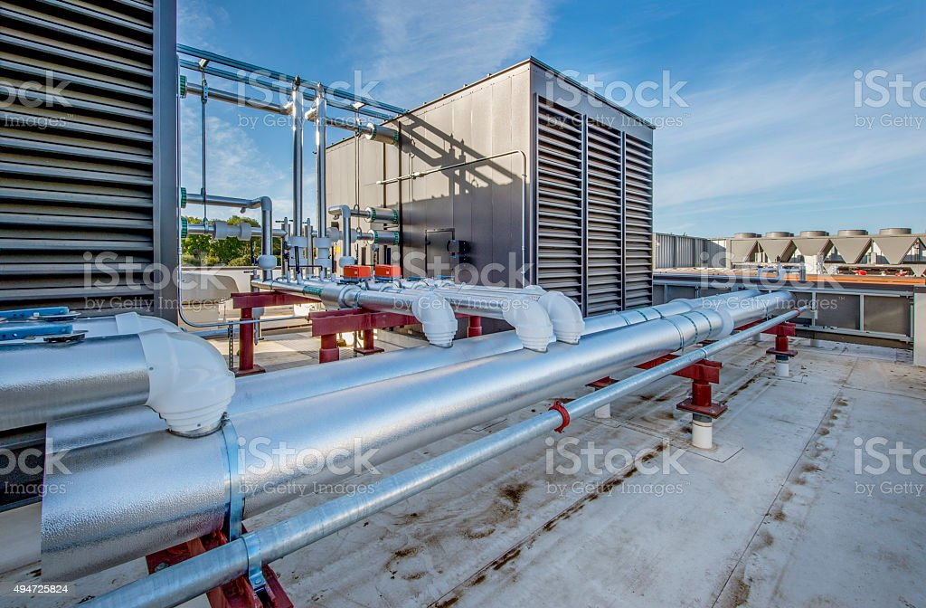 Rooftop Filtration and Cooling Units stock photo