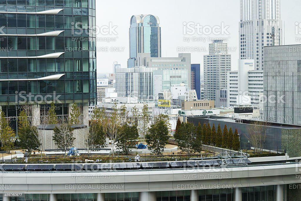 Rooftop Garden in Osaka stock photo