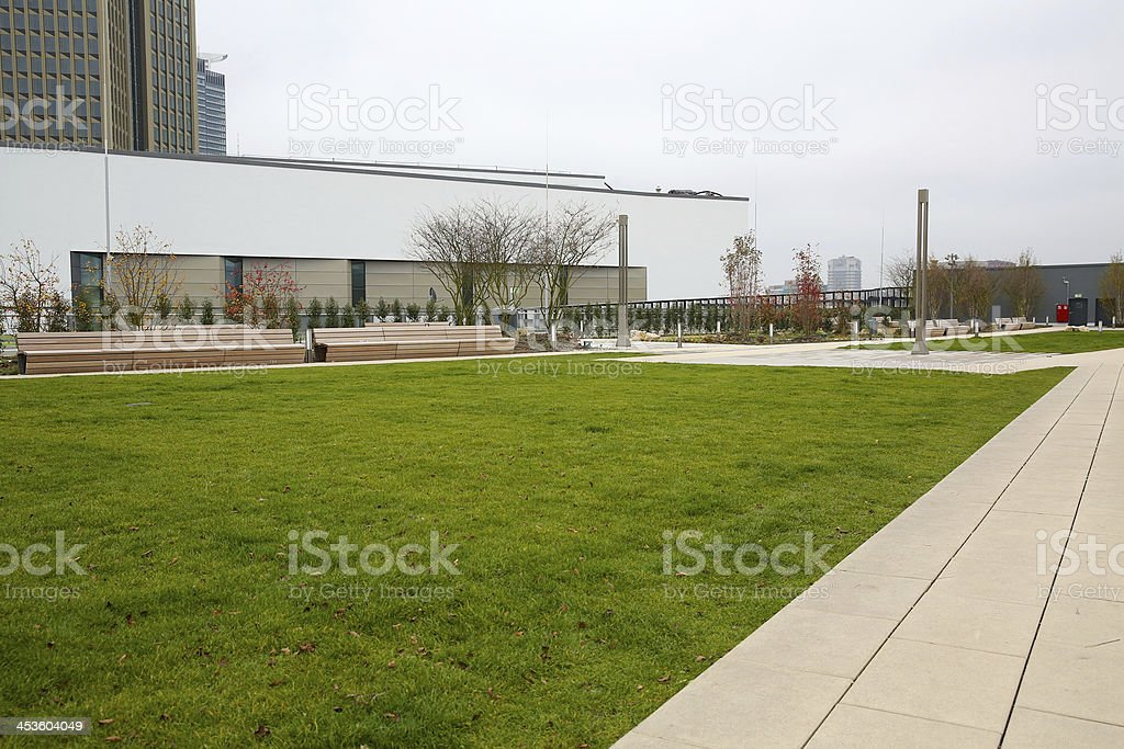 rooftop garden stock photo
