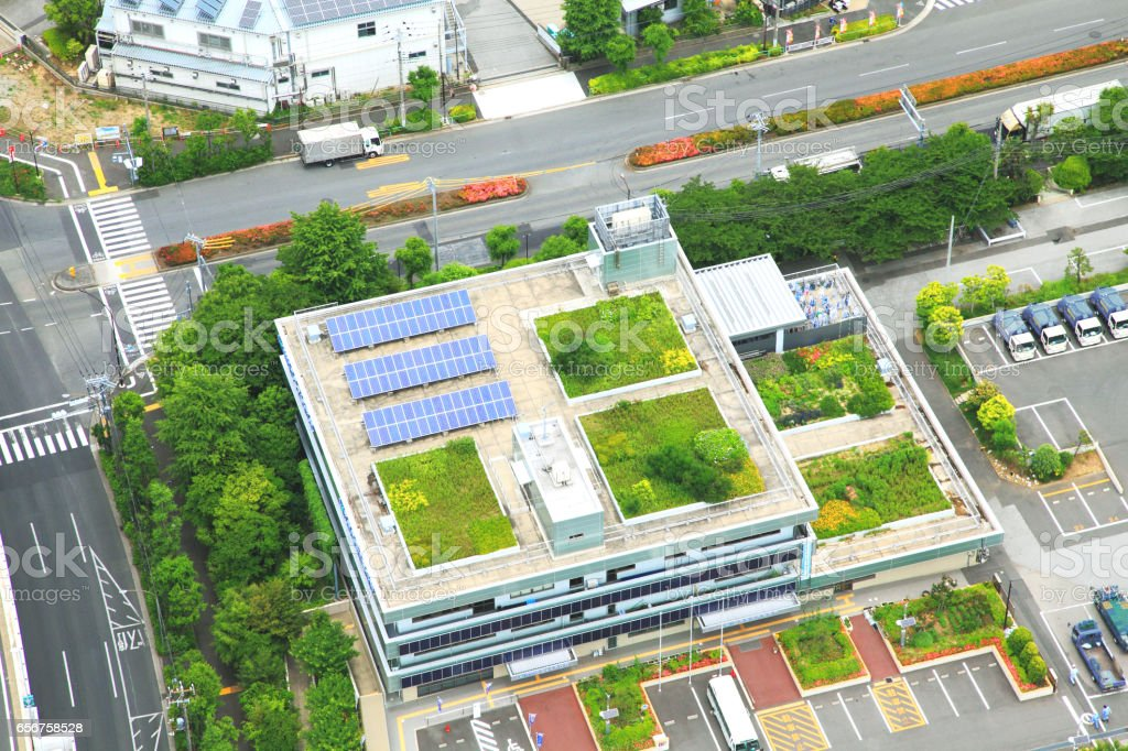 Rooftop Gardens Tokyo Highrise Buildings With Solar Power