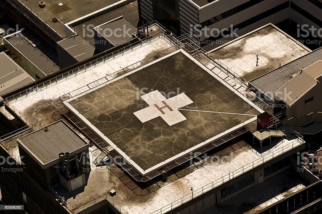 Rooftop Hospital Helipad stock photo