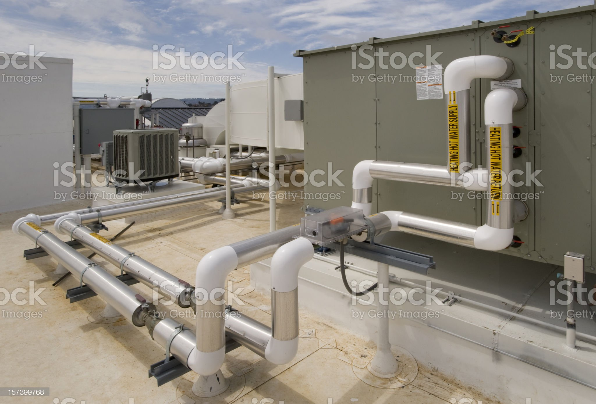 Rooftop HVAC System royalty-free stock photo