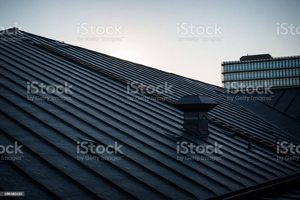 rooftop in munich stock photo