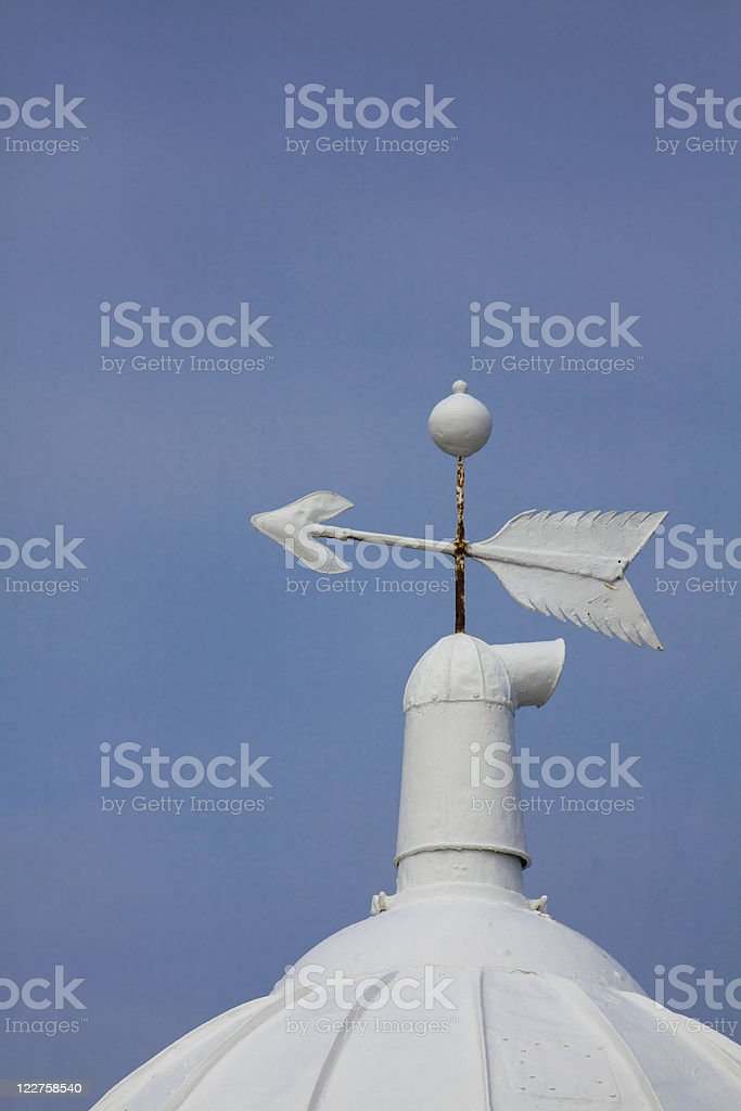 Rooftop of lighthouse royalty-free stock photo