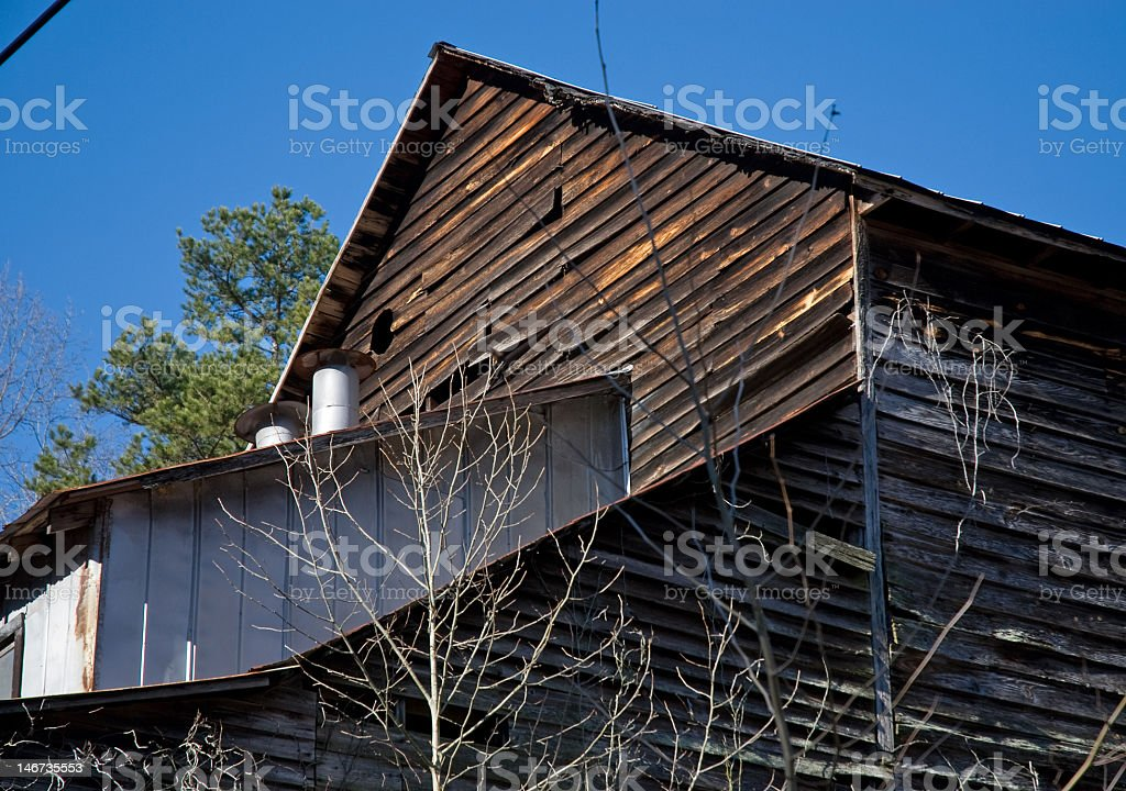 Rooftop on an Old Grist Mill royalty-free stock photo