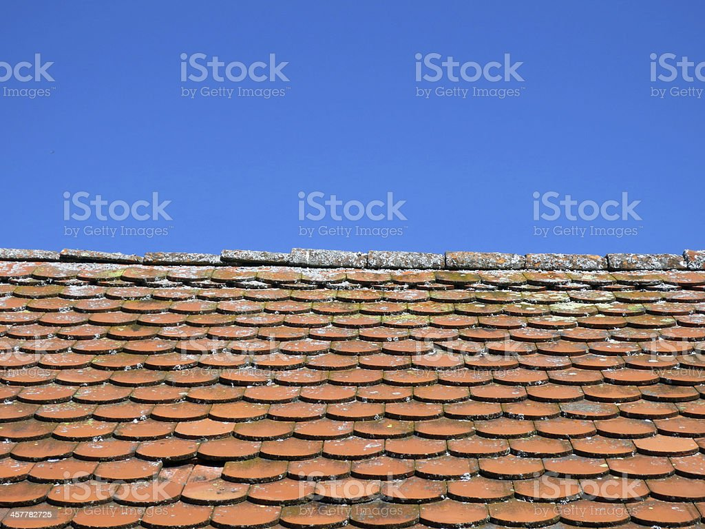 Roof-top pattern royalty-free stock photo