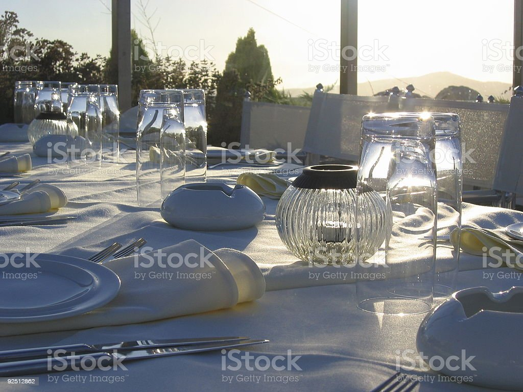 Rooftop Placesetting stock photo