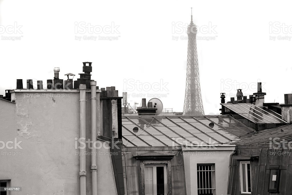 Rooftop Scenic in Paris royalty-free stock photo