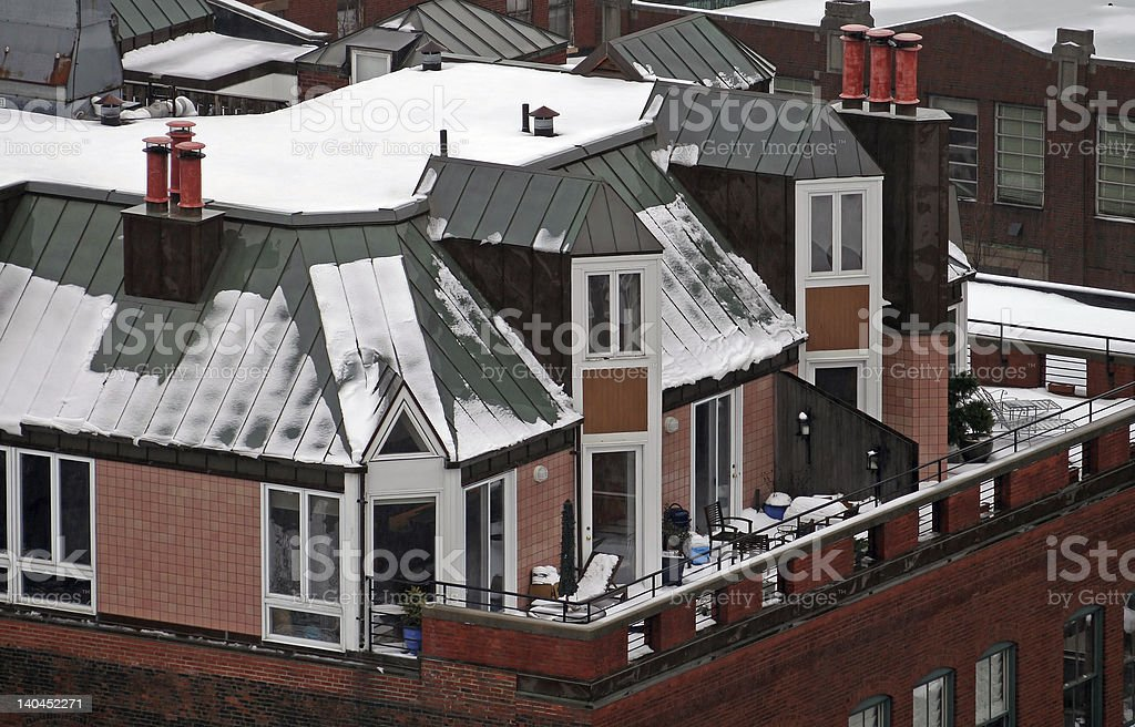 Rooftop Terrace in Boston royalty-free stock photo