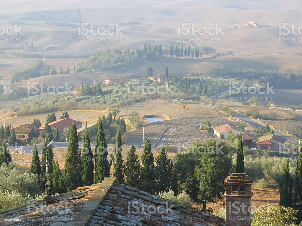 Rooftop View from Pienza royalty-free stock photo