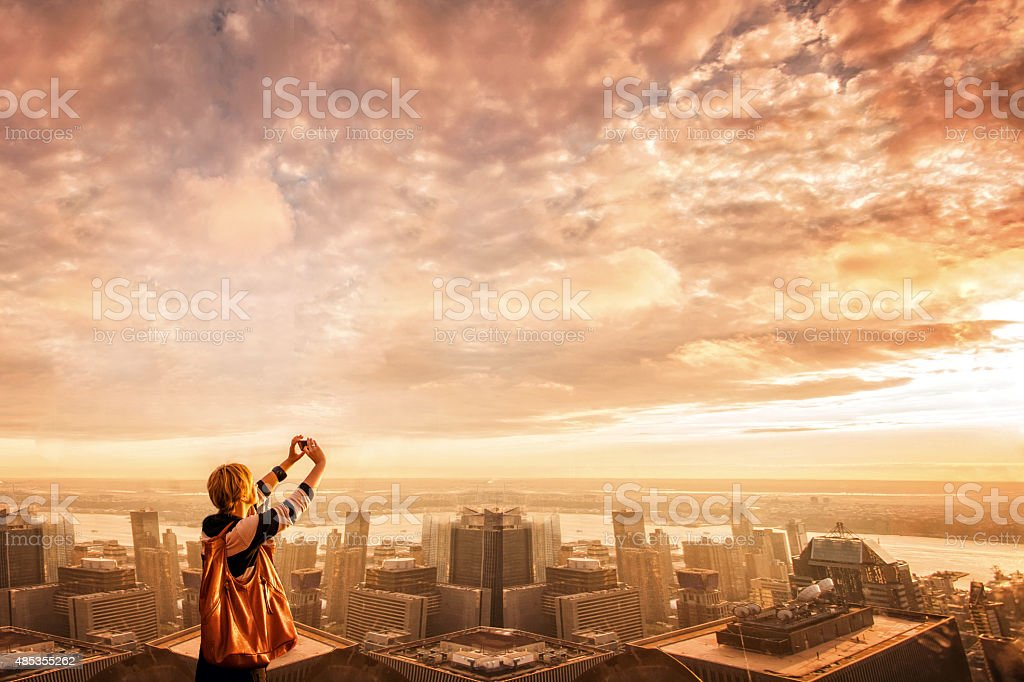 Rooftop view of New York City stock photo