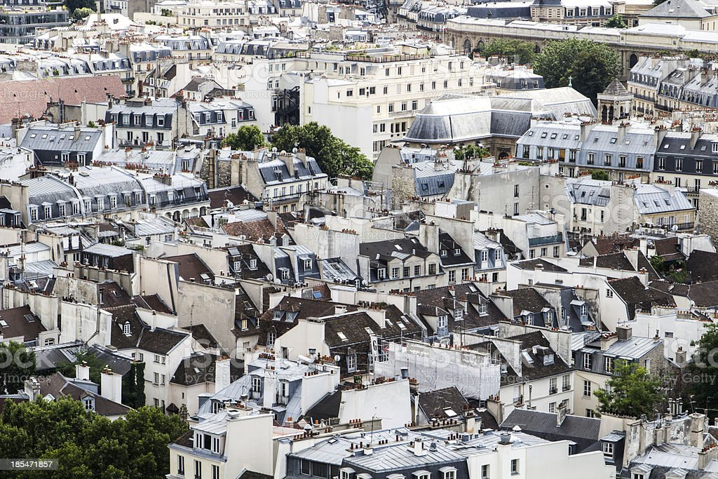 Rooftop view of Paris stock photo