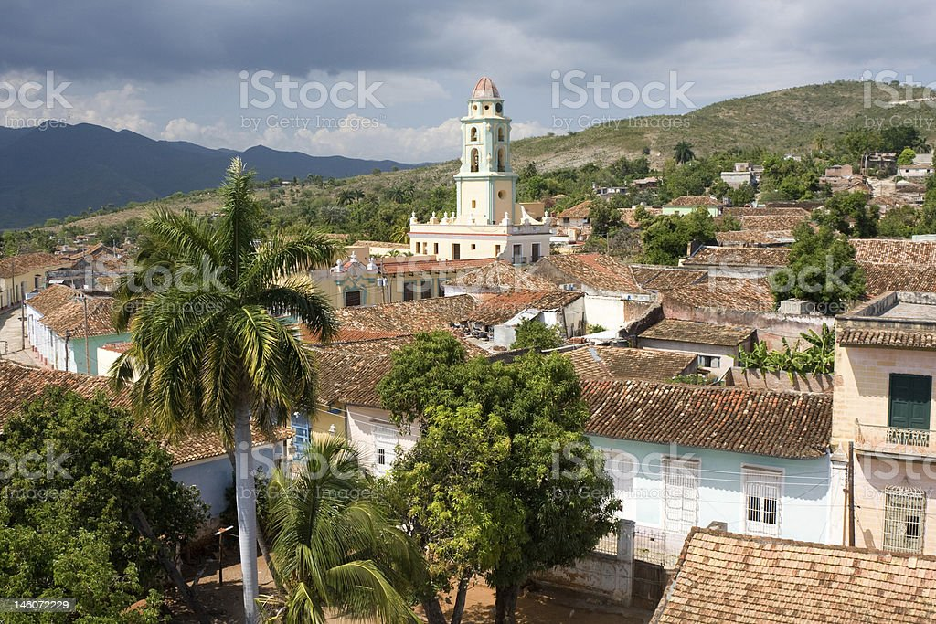 Rooftop view of Trinidad, Cuba stock photo