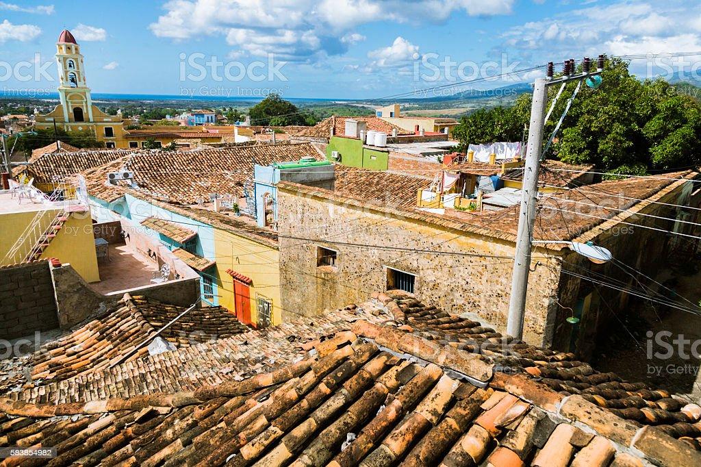 Rooftop View of Trinidad, Cuba stock photo