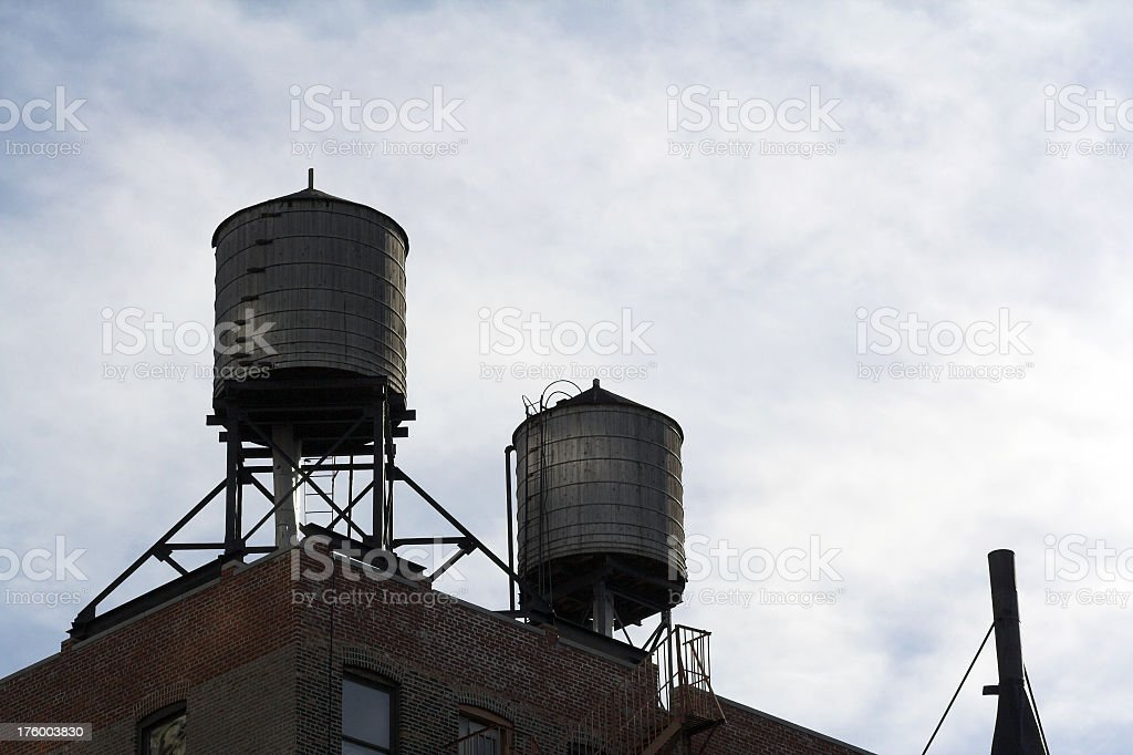 Rooftop Water Tanks royalty-free stock photo