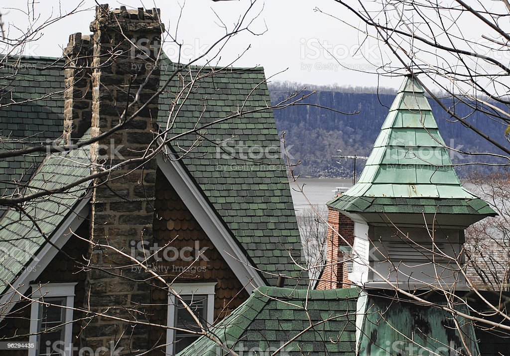 Rooftops Along the Hudson River royalty-free stock photo