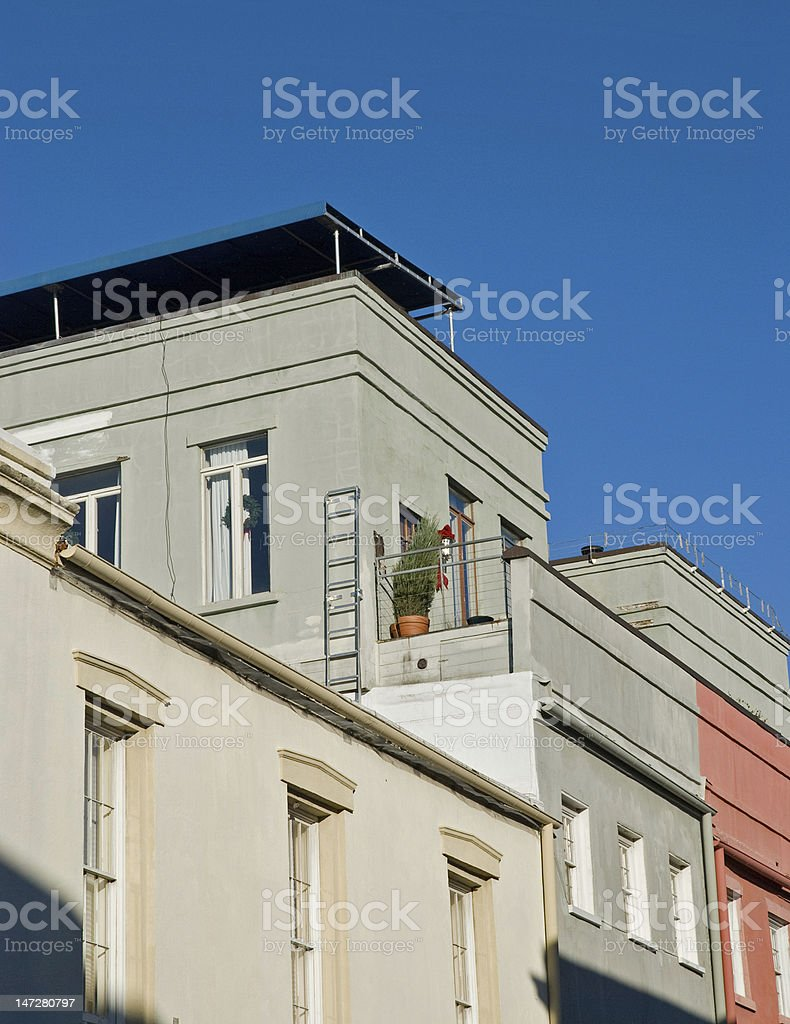 Rooftops and A Terrace royalty-free stock photo