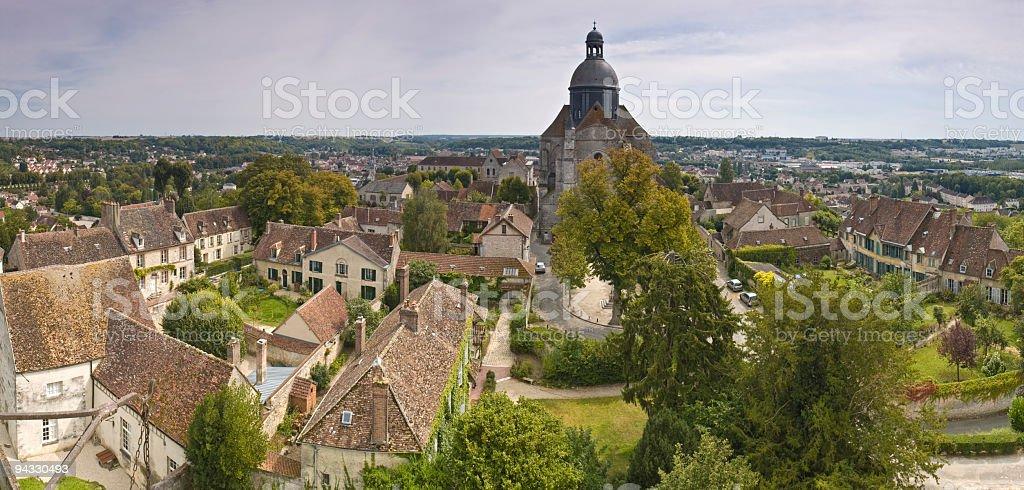 Rooftops and rotunda, France royalty-free stock photo