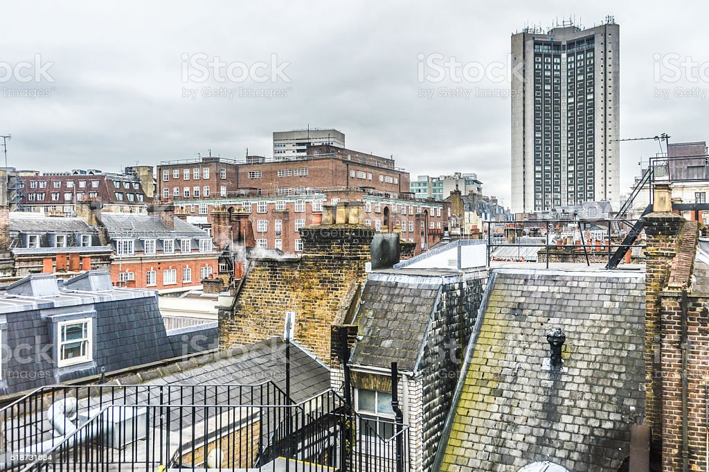 Rooftops in London stock photo