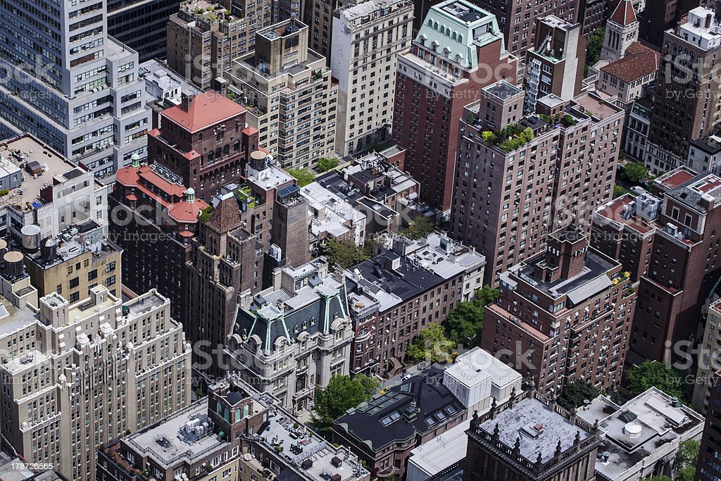 Rooftops in Midtown Manhattan royalty-free stock photo