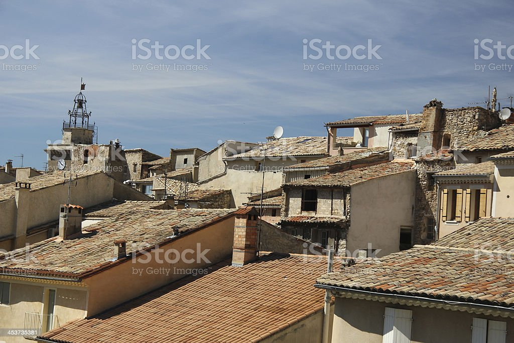 Rooftops in Nyons stock photo