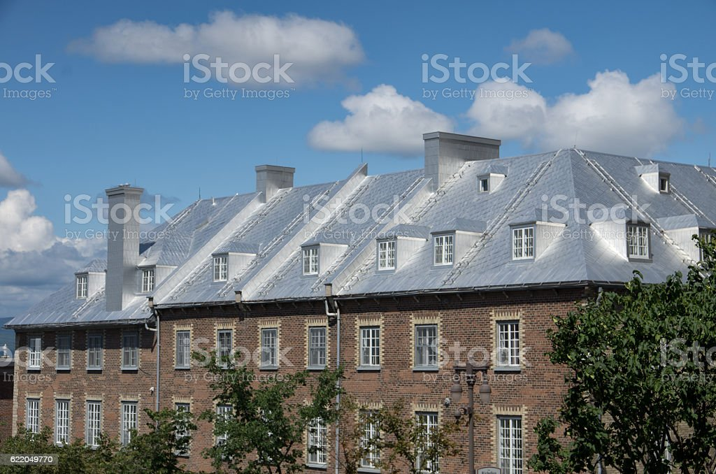 Rooftops in Old Quebec stock photo