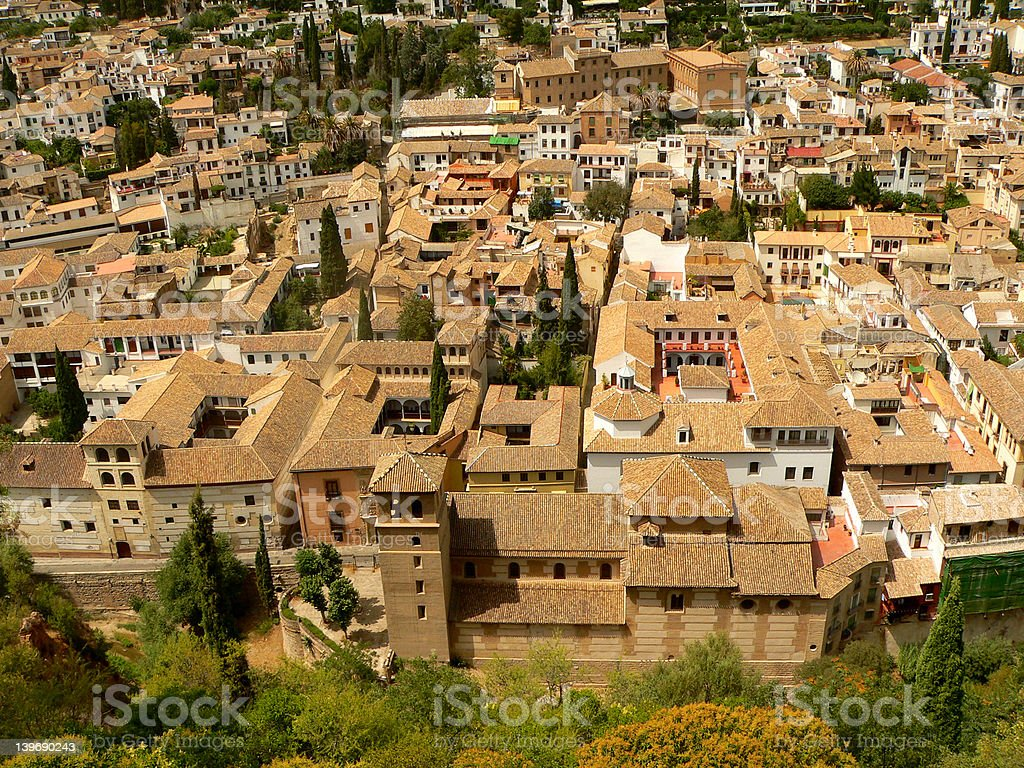Rooftops of Granada stock photo