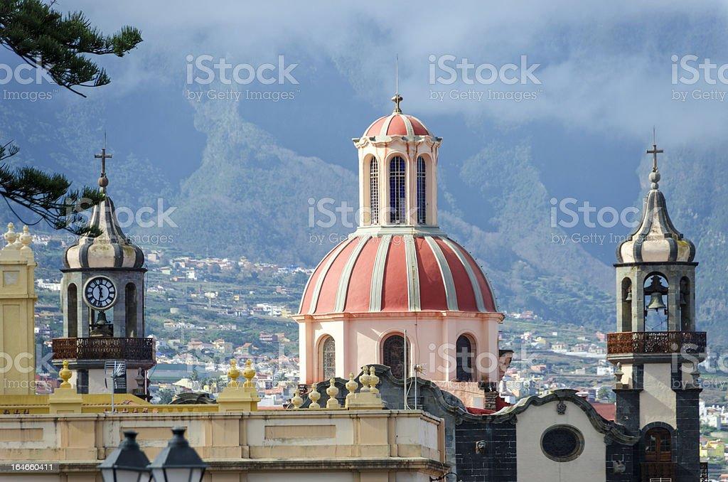 Rooftops of La Orotava stock photo