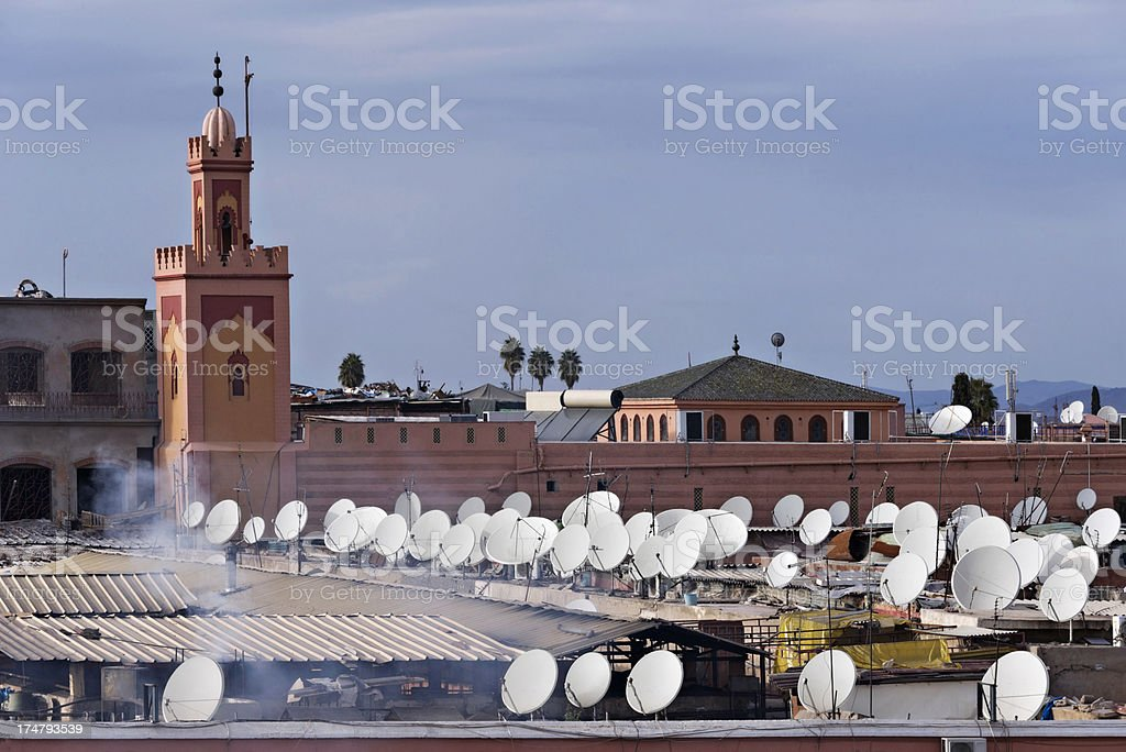 Rooftops of Marrakesh royalty-free stock photo